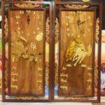 Đốc lịch gỗ có đồng hồ Mã Đáo & cá Chép -TG209