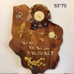 Tranh gỗ Hương chữ An -TG216
