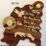 Tranh gỗ Hương thư pháp Vợ Chồng -TG218