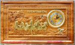 Tranh gỗ gõ đỏ liền tấm, Đồng hồ Mã Đáo Thành Công -TG228