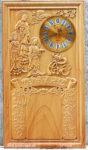Đốc lịch gỗ gõ đỏ , Phật Tam Thánh -TG234