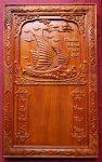 Lốc lịch gỗ hương đục nổi – Thuận buồm xuôi gió -TG044
