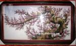 Tranh đá qúy, Mộc long đào hoa- TD025