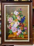 Tranh sơn dầu-Tĩnh vật bình hoa-tv16