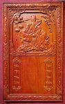 Tranh lốc lịch gỗ Hương đục nổi – Phúc Lộc Thọ ( Tam Đa) -TG139