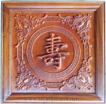 Tranh gỗ hương đỏ lào-chữ Thọ-TG097