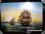 Tranh ép gỗ-Thuận buồm xuôi gió-v45