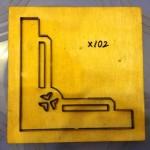 Hoa văn dập góc giấy bo-X102