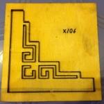 Khuôn đóng giấy góc tranh thêu-X106