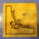 Góc dập giấy bo tranh-X107