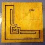 Khuôn cắt giấy bo tranh thêu-X113