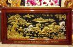 Tranh đồng Mạ Vàng ,mã đáo thành công A062