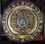 Tranh mâm đồng tứ linh chữ Thọ-a106