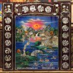 Liễn thờ Ẩm Hà Tư Nguyên, sơn mài khảm trai -SM278