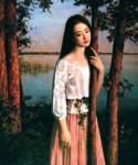 Thiếu nữ thân gầy trong tranh sơn dầu