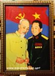 Tranh chủ tịch Hồ Chí Minh & Đại tướng Võ Nguyên Giáp-s189