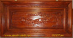 Tranh gỗ hương đỏ chạm nổi,mã đáo thành công- TG129