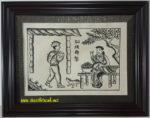 Tranh dân gian Đông Hồ,tấm áo năm sưa-TDH119