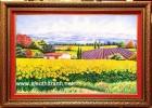 Tranh đá quý,cánh đồng hoa hướng dương-td108
