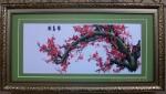 Tranh thêu-mộc long đào hoa-t141