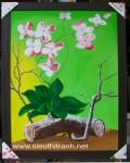 Tranh sơn dầu-khóm lan-s181