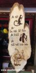 Tranh thư pháp gỗ bút lửa, Thờ Cha Kính Mẹ -TG183
