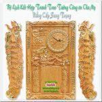 Bộ tranh gỗ gõ đỏ đốc lịch , Cha Mẹ -TG252