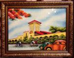 Chợ Bến Thành (tranh sơn mài vẽ – SM256)