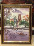 Tranh in lụa Chùa Thiên Mụ – L02