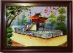 Tranh vẽ sơn mài chùa một cột – SM232