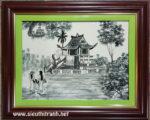 Tranh sứ , chùa một cột -G158