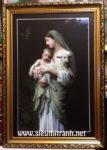 Đức mẹ bồng chúa giesu -C82 ( in dầu ép foam )