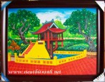 Tranh sơn dầu-chùa một cột-s182