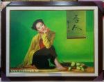 Thiếu nữ kiêu sa, tranh sơn dầu -S051