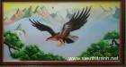 Tranh sơn dầu- Đại bàng vượt đại ngàn
