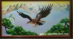 Tranh sơn dầu-đại bàng vượt đại ngàn-s183