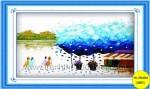 Đường xưa trừu tượng- mẫu thêu -DLH222154