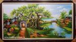 Tranh sơn dầu vẽ kỹ, Đồng Quê -S245