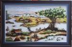 Khúc hát Quê Hương ,tranh thêu tay -T322