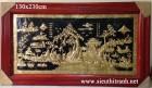 """Tranh đồng """"cây đa bên nước sân đình -A124″"""