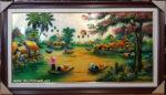 Bức họa đồng quê , sơn mài -SM263