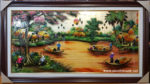 Bức họa đồng quê ,sơn mài vẽ- SM264