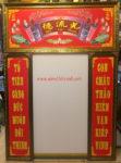 Tranh in dầu cán foam thờ gia tiên ,Đức Lưu Quang- GT01