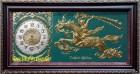 Tranh đồng -đồng hồ Thánh Gióng -a136