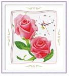 Mẫu thêu đồng hồ hoa hồng EW123 in100%
