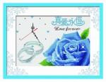 Mẫu đồng hồ hoa hồng xanh in 100%