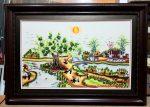 Phong cảnh làng quê, Tranh thêu-F168