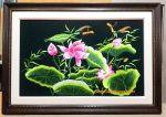 Hoa sen, tranh thêu -F169