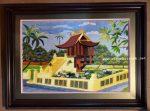 Tranh thêu – Chùa một cột Hà Nội ( chùa diên hựu ) F178