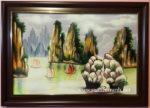Tranh vẽ sơn mài vịnh hạ long SM231